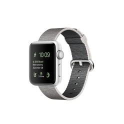Apple Watch Series 2, MNNX2, 38 мм, корпус из серебристого алюминия, ремешок из плетёного нейлона жемчужного цвета