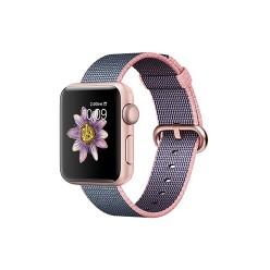 Apple Watch Series 2, MNP02, 38 мм, корпус из алюминия цвета «розовое золото», ремешок из плетёного нейлона цвета «светло‑розовый/тёмно‑синий»
