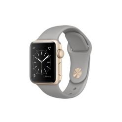 Apple Watch Series 2, MNP22, 38 мм, корпус из золотистого алюминия, спортивный ремешок цвета «серый камень»