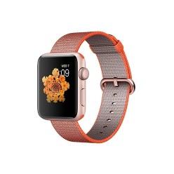 Apple Watch Series 2, MNPM2, 42 мм, корпус из алюминия цвета «розовое золото», ремешок из плетёного нейлона цвета «оранжевый космос/антрацит»