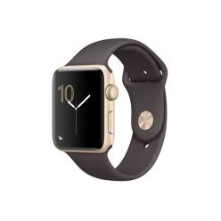 Apple Watch Series 2, MNPN2, 42 мм, корпус из золотистого алюминия, спортивный ремешок цвета «тёмное какао»